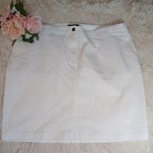 Talbots white Jean skirt 20W